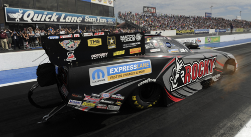 It is Hagan's third consecutive victory going back to the Auto Club NHRA Finals in November 2014.