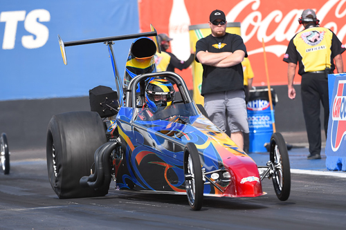 Canada's Trevor Ritchie won in Top Dragster class racing