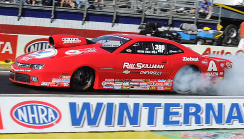 Rookie Pro Stock racer Drew Skillman went to the final in his very first event!