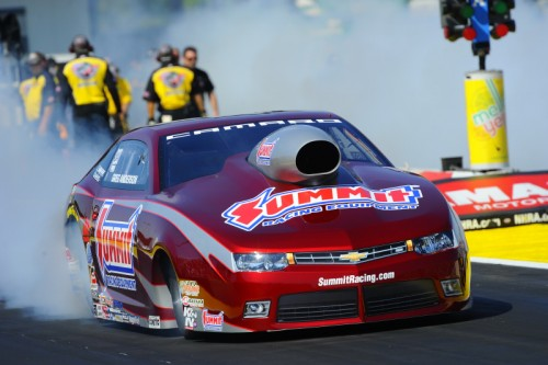 Greg Anderson completed his comeback to driving with an impressive win in Pro Stock