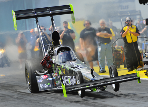 Ike Maier's best run of 4.137 secs in the Laporte Racing dragster missed the TF bump of 3.963 secs