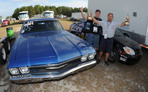 Norm Lapointe from Edmonton won class in both O/SA and GT/DA with his Chevy cars.