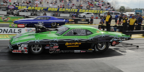 Whitby's Eric Latino ran in Pro Mod for the first time this season - he had a great 5.876 secs ET in round one!