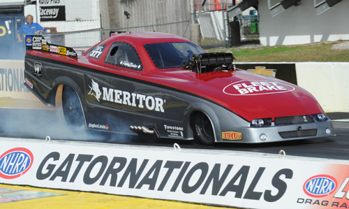 Driving his new look Meritor Mustang - Paul Noakes had a superb semi-final round finish in TAFC