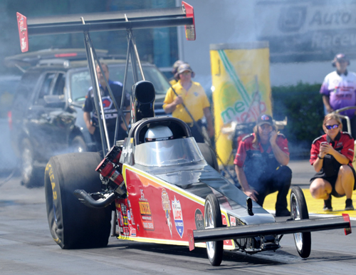Randy Meyer drove his injected nitro car to victory in TAD