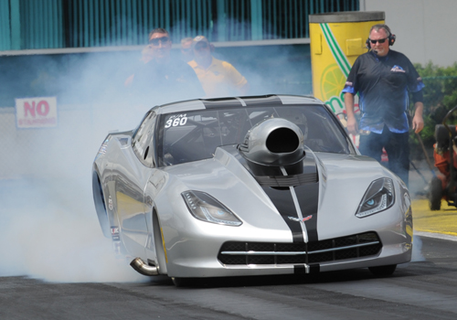 Bob Rahaim ran his awesome new C7 Corvette to victory in it's debut race.