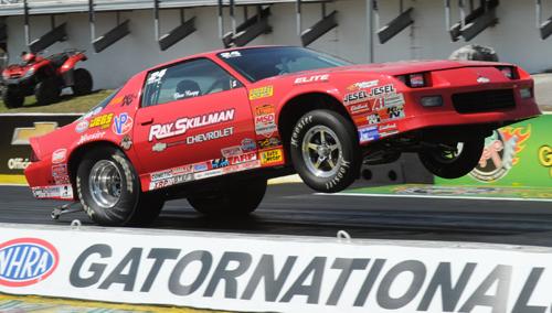 Super Stock went to David Rampy's high-flying Chevy Camaro.