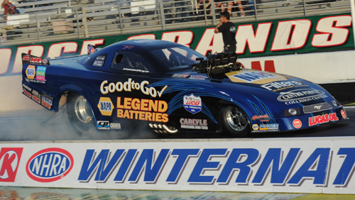 John Lombardo's Napa-sponsored Mustang TAFC is one of NHRA's top class contenders.
