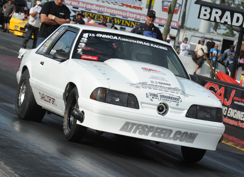 Tony Alm's debut event in the Edelbrock Xtreme Street class produced a victory for his Ford Mustang