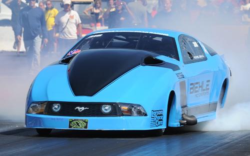 The VP Racing Fuel Pro Mod winner was Michael Biehle's turbocharged Mustang.
