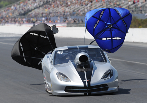 Bob Rahaim's incredible new Corvette C7 roared to victory during it's first ever event appearance