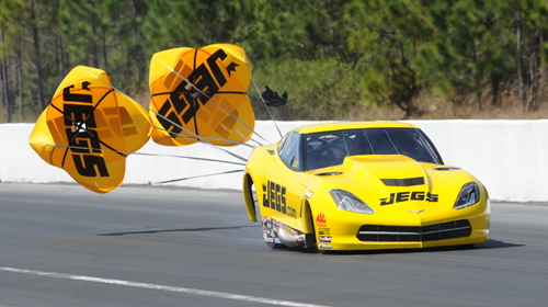 """Troy Coughlin's all new Corvette C7 set top speed at 252.43 mph and went to the """"final four"""" on Sunday"""