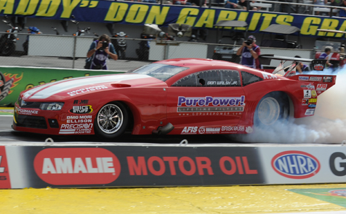Don Walsh's turbocharged Camaro qualified low and set low ET at 5.829 secs