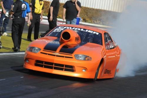 Garth Giroux drives the team's Jerry Haas-built Chevy Cavalier
