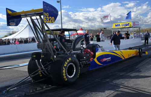 Serge Dion's Dyno Racing dragster offers licensing opportunity for new drivers.