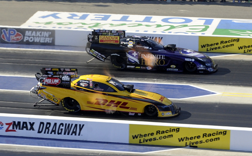 Jack Beckman edged out Del Worsham for the fuel FC title.