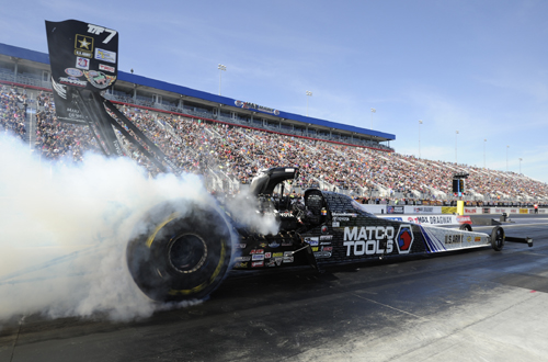 Antron Brown scored his first win of the season in Top Fuel.