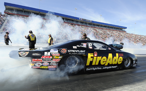 Larry Morgan ended a long winless drought in NHRA Pro Stock racing