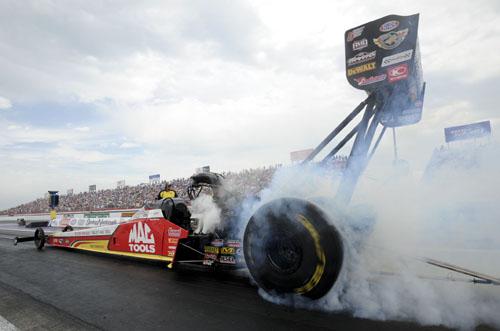 Top Fuel winner Doug Kalitta in the Mac Tools dragster