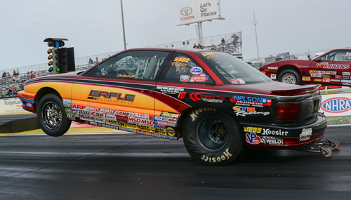 Saskatoon's Sheldon Erfle made the very long tow down to Vegas and qualified his GT/EA Achieva at .642 under the index