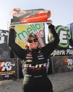 Erica Enders-Stevens won her 2nd consecutive K&N Challenge title on Saturday.