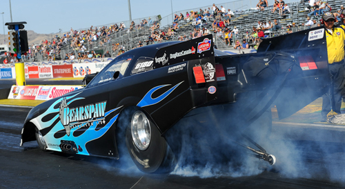 Calgary's Jirka Kaplan made the very best of a rather rare NHRA national event appearance with a #4 qualifier and a semi-final finish in TAFC