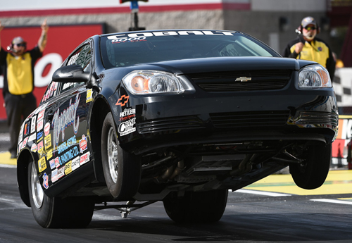 Norm Lapointe - who has been on an extensive NHRA tour so far this season - raced again at Las Vegas with his slick 2008 Cobalt