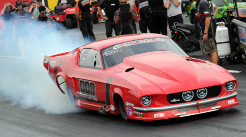 Caribbean-based driver Anthony Disomma won in Pro Boost with his uber cool '67 Mustang