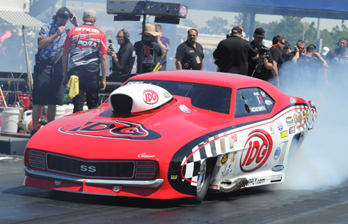 "Wily veteran ""Trickie Rickie"" Smith scored in Pro Nitrous"