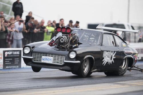 Rob Lapierre ran his wild looking and wild handling supercharged Chevy Vega