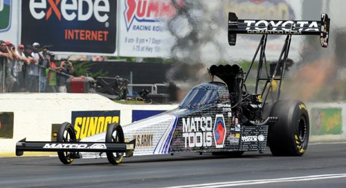 Antron Brown won in TF for the 4th time at NHRA Atlanta