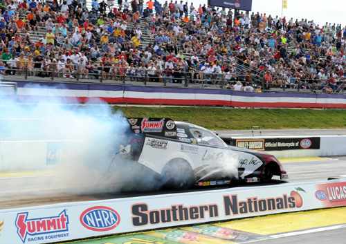 Tim Wilkerson ended a long winless drought driving the L.R.S. Ford Mustang