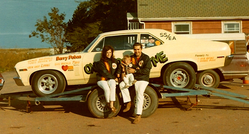 Barry's early ventures into drag racing included this Corvette and Nova (that's a very young Todd at centre below!)
