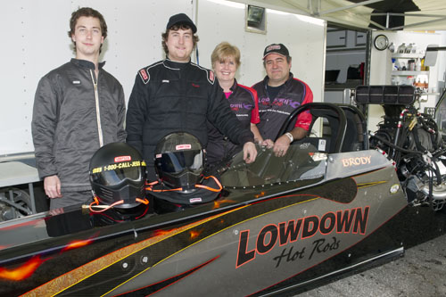 Team Lowdown - which now consists of 2-cars driven by Brody & Austin Van De Geld were on hand.