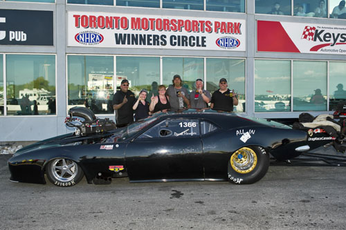 Derek Hawker scored the Pro Mod title over an 8-car field.