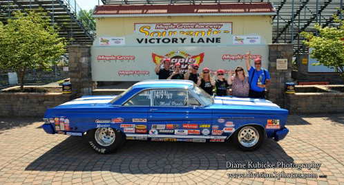 Mark Proux landed his truly cool '65 Comet in victory lane for S/ST at Reading's LODRS