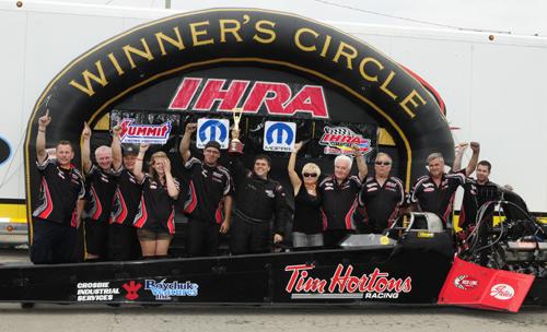 Paton Racing in IHRA Winners Circle at Grand Bend - 2010