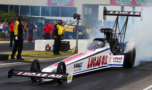 Driving for sponsor Lucas Oil -- Australian native Richie Crampton scored his 4th career win in Top Fuel