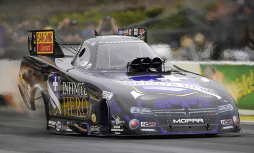 Jack Beckman moved to the podium in NHRA Fuel FC points with his win.