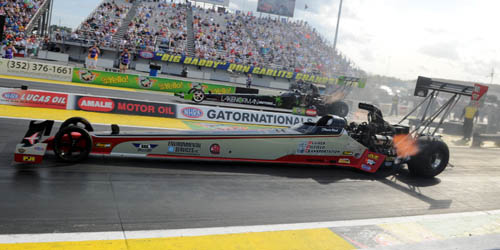 The Paton Racing dragster (with driver Shawn Reed) at NHRA Gainesville in March