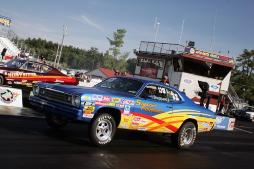 Epping:  Bill Sheppard brought in his very clean '73 Plymouth G/SA from Lakeville NS for Stock eliminator.