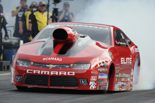 Erica Enders-Stevens won NHRA's Thunder Valley Nationals Pro Stock title for the 2nd year in a row.