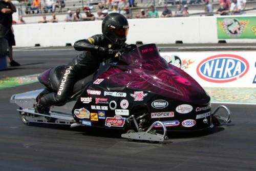 Ontario's Tinna Duncanson won the event's Pro Stock Snowmobile demonstration eliminator for the 2nd year in a row!