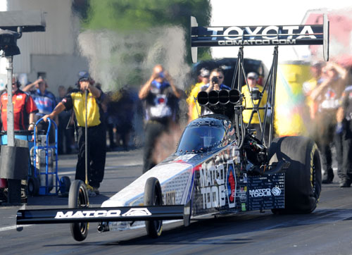 Antron Brown final won in Top Fuel at his hometown race track.