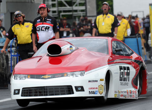 Arnie Martel scored in Competition eliminator with his '15 Camaro