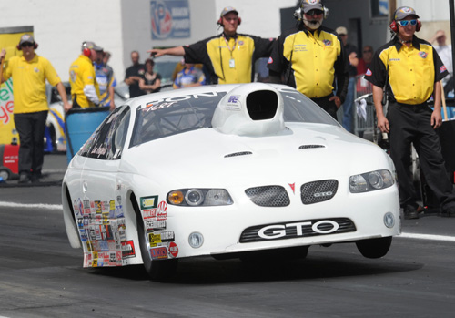 E-Town:  Luc Angers (from Quebec) qualified his GTO #17 in Top Sportsman - but had a red-light foul in round one.