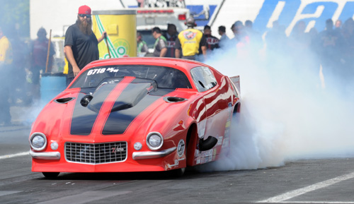 U.S. based driver Shane Molineri raced the BC-based RH Race Cars Camaro for the first time at Englishtown.  They just missed qualifying for the record fast PM field with at 5.951 secs (#17)