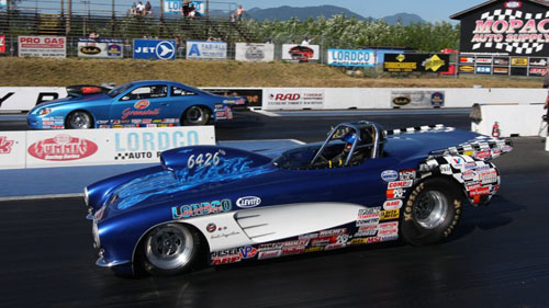Prolific central BC based racer Mike Shannon (in near lane X2) won in both Super Comp and Super Gas!