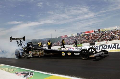 Top Fuel stalwart racer Tony Schumacher won convincingly.