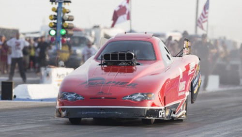 Tyler Scott had a very nice event effort -- winning  the NDRA Alcohol Funny Car feature.